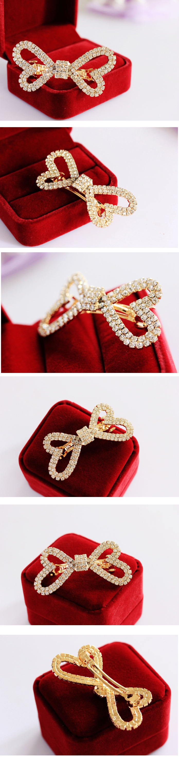 Korea Diamond Bow Hair Side Clip