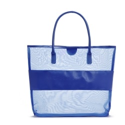 Transparent Grid Shoulder Bag BLUE