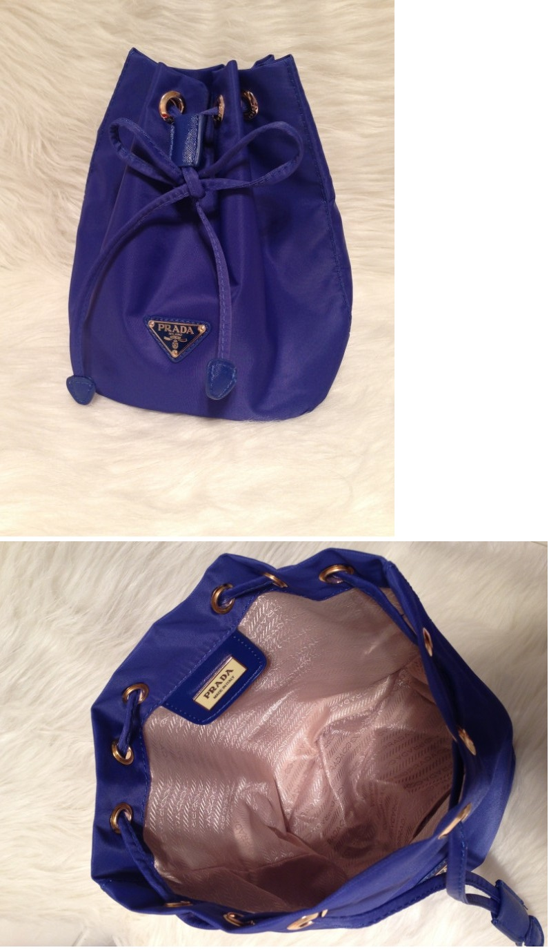CLEARANCE PRDA Luxury Classic Drawstring Bag Cosmetic Pouch BLUE