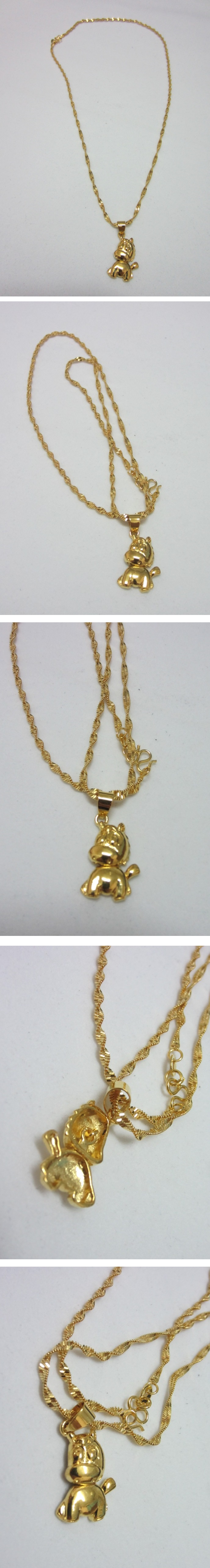 Cute Adorable Lucky Horse 24K Gold Necklace
