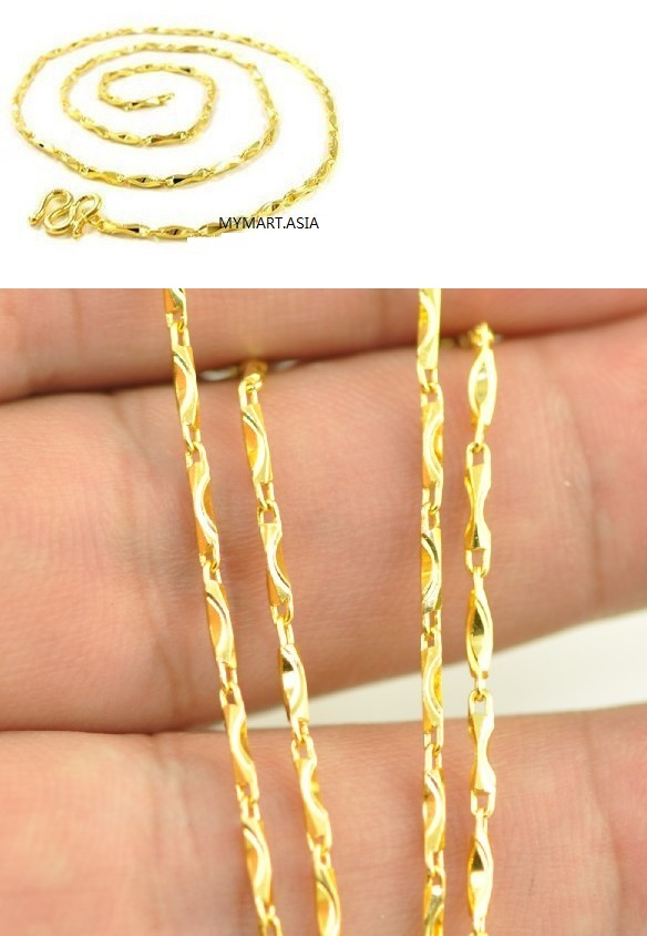 Alluvial Gold-plated Gold Necklace