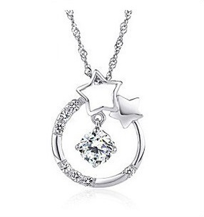Silver S925 Meteor Stars Everlasting Love Necklace