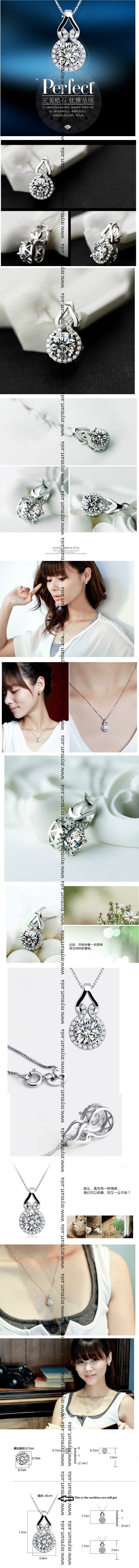 S925 Silver Zircon Unique Design Pendant Necklace Set