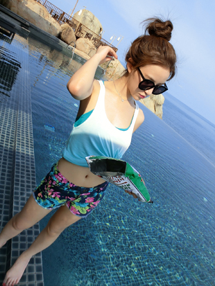 Clearance Korea Simple Cute Flower Summer Hot Pants