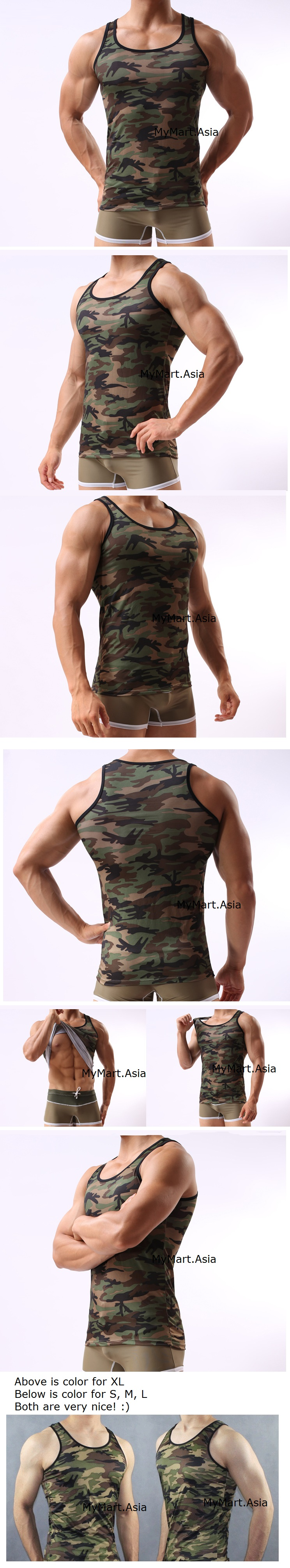 Launching Price Men Ice Silk Army Camouflage Top