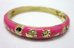 Chinese Floral Oil Painting Fine Bracelet ROSE