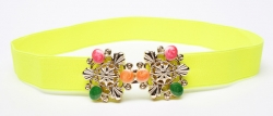Fashion Colorful Gems Studded Girdle Belt YELLOW
