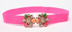 Fashion Colorful Gems Studded Girdle Belt ROSE
