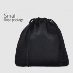 Black Jewelry Digital Bag Small Rope Package Price is for 3 bags