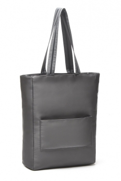 Simple Gray Satin Shoulder OL Handbag