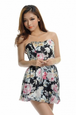 Authentic GUESS floral Satin dress