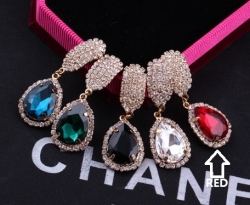 Korea Celebrity Earrings Diamond Earrings RED