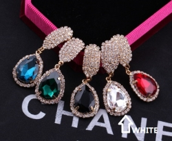Korea Celebrity Earrings Diamond Earrings WHITE