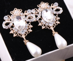 Korean Princess Gorgeous Pearl Earrings