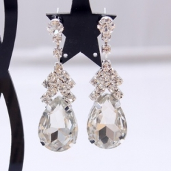 Korea CZ Classic Bridal Fashion Earrings