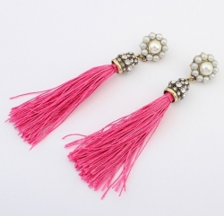 Celebrity Pearl Ethnic Earrings ROSE