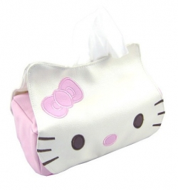 Clearance Cute Kitty Cat Leather Tissue Box