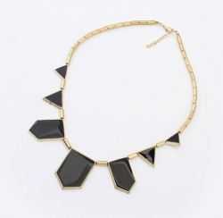 Korea Fashion Geometric Necklace BLACK