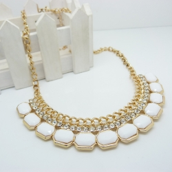 Gemstone Influx Easy Match Necklace WHITE