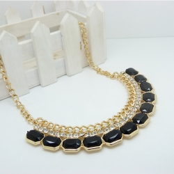 Gemstone Influx Easy Match Necklace BLACK