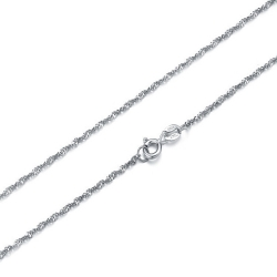 925 Sterling Silver Plated Necklace Chain Nickel-free 40cm