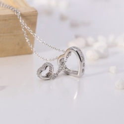 S925 sterling silver Crossing Love Pendant Set