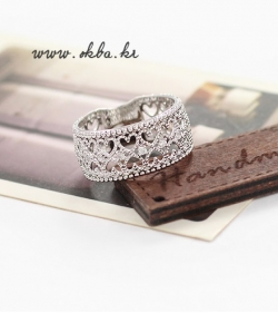 Korea Influx Elegant Diamond Ring SILVER