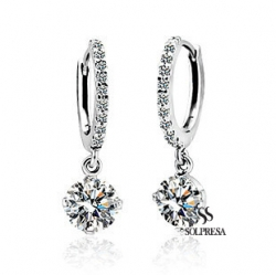 Solpresa Classic Swarovski Crystal Zircon Earrings