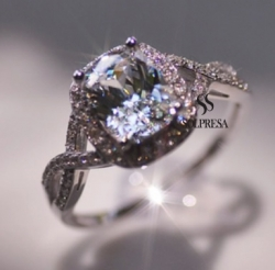 Solpresa Paris Unique Zircon Diamond Ring