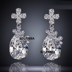 SOLPRESA AUSTRIAN CRYSTAL ZIRCON SIGNATURE EARRINGS