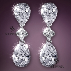 Solpresa Austrian Crystal Gemstone Handmade Earrings