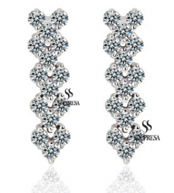 Solpresa Roman Zircon Inlaid Carina Earrings