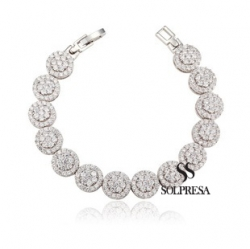 Solpresa Zircon Inlaid Dazzling Star Diamond Bracelet