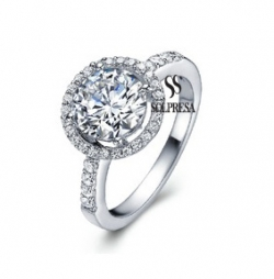 Solpresa Diamond Heart Super Flash Diamond Ring US6