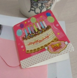Birthday Greeting Card Gift Card with Envelope